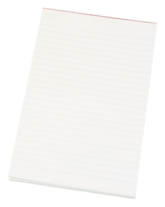 Picture of Quill 8X5 Inch Topless Ruled Pad White