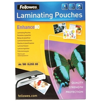 Picture of FELLOWES LAMINATING POUCH A4 80 MICRON 100 PACK