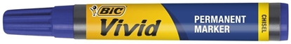 Picture of Stephens Vivid Permanent Marker Chisel Tip 0.5-3.5mm Blue Box 12