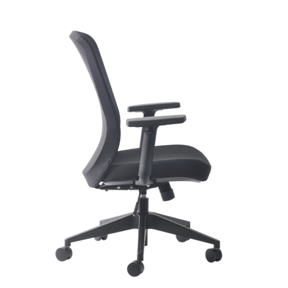 Picture of Buro Gene Fabric Chair With Arms -Black