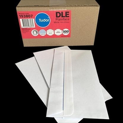 Picture of 6112 Dle Banker Self Seal Envelopes White Box 500 114X225mm