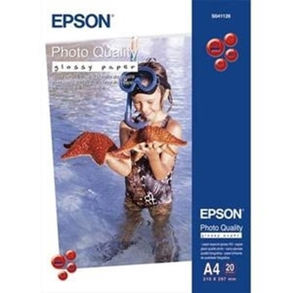 Picture of Epson Premium C13S041287  Print Photo Paper - A4 -Glossy - 20 Sheet