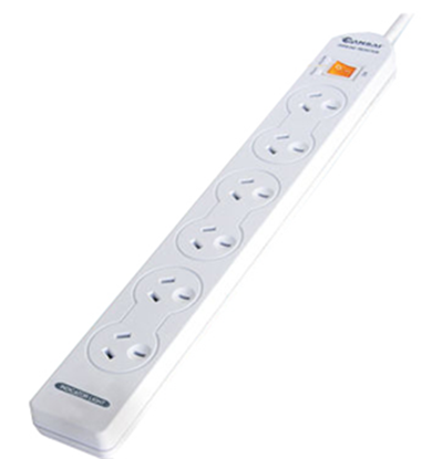 Picture of Sansai 6 Way Basic Powerboard with Master Switch.