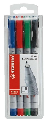 Picture of Stabilo 852 Overhead Projection Pen Fine Water-Soluble Assorted Colours Set 4