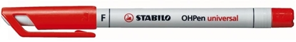 Picture of Stabilo 852 Overhead Projection Pen Fine Water-Soluble Red