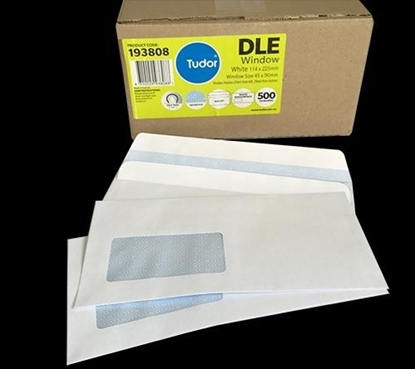 Picture of 6111 Dle Banker Window S/S Envelopes White Box 500 114X225mm
