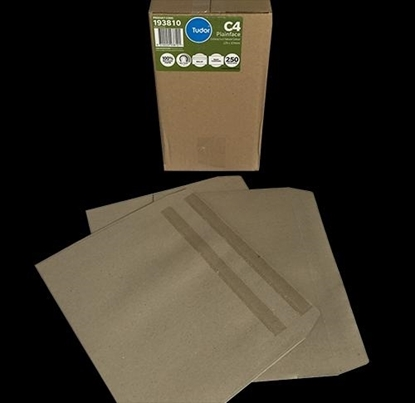 Picture of 9712 C4 Banker Self Seal Envelopes Manilla Box 250 229X324mm