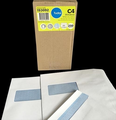 Picture of 9311 C4 Banker Window S/S Envelopes White Box 250 229X324mm
