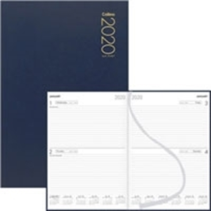 Picture of Collins A51 Diary A5 1 Day To A Page 2020 Navy Blue