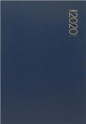 Picture of Collins A41 Diary A4 1 Day To A Page 2020 Navy Blue