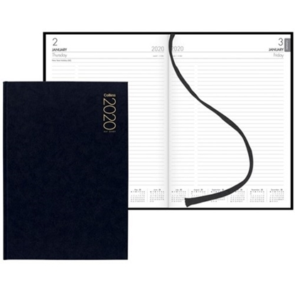 Picture of Collins A41 Diary A4 1 Day To A Page 2020 Black