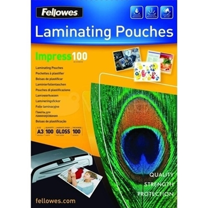 Picture of FELLOWES LAMINATING POUCH A3 80 MICRON 100 PACK