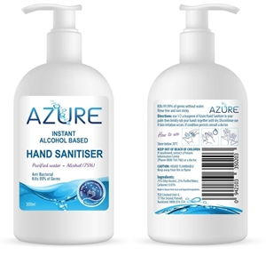 Picture of Azure Instant Hand Sanitiser 300ml