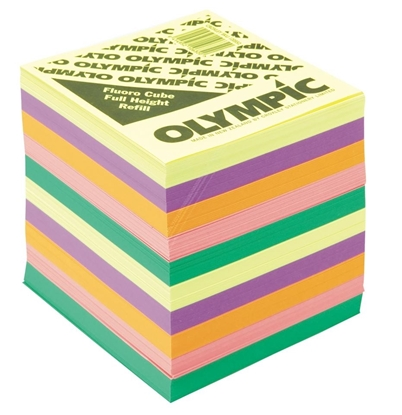 Picture of Olympic Memo Cube Fluoro Full Height Refill
