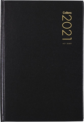 Picture of Collins 2021 Hardcover Diary A5 Day To Page Black