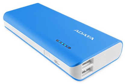 Picture of ADATA PT100 10000mAh Powerbank with Flashlight - Blue/White