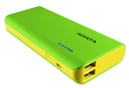 Picture of ADATA PT100 10000mAh Powerbank with Flashlight - Green/Yellow
